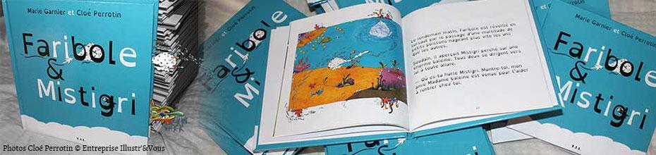 Bandeau de la fiche du livre faribole et mistigri ecrit par marie garnier illustre par cloe perrotin paru chez y i l edition